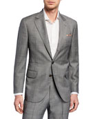 Brunello Cucinelli Men's Tonal Plaid Super 110s Wool