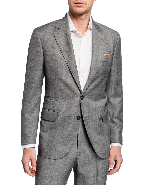 Men's Tonal Plaid Super 110s Wool Two-Piece Suit