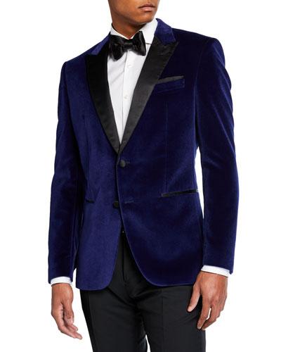 Men's Bold Velvet Solid Dinner Jacket