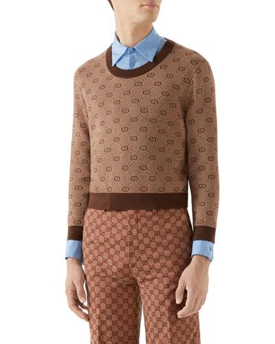 b1a90ef2c5d Quick Look. Gucci · Men s Interlocking-G Intarsia Sweater