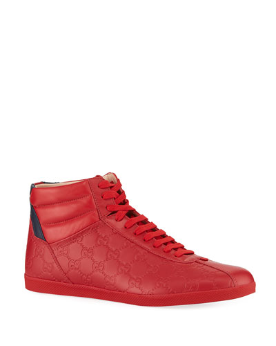 Men's High-Top Leather Sneakers
