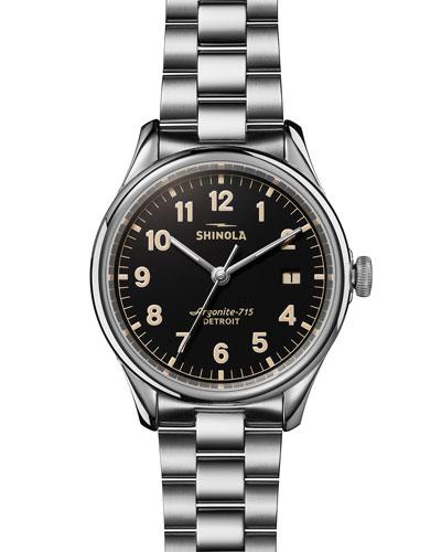 38mm Vinton Men's Bracelet Watch, Black