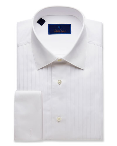 Men's Regular-Fit Pleated-Front Formal Dress Shirt