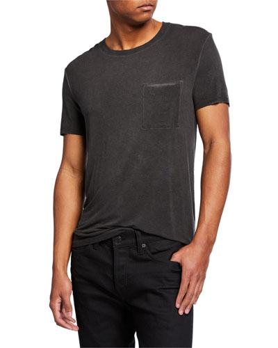 Men's Oversized Sun-Bleached Pocket T-Shirt