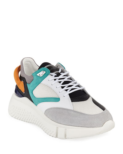 Men's Veloce Leather Trainer Sneakers