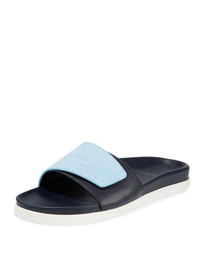 Men's Scratch Leather Slide Sandals