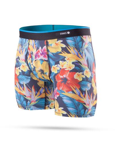 Men's Flower Paints Boxer Briefs