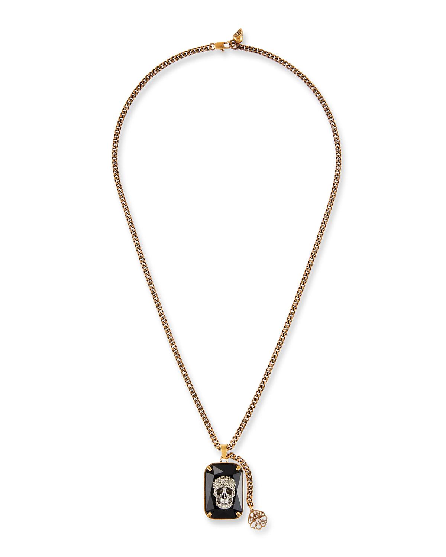 Men's Swarovski® Crystal Skull Necklace