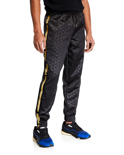 Men's Luxe Pack Tonal-Pattern Track Pants
