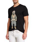 Eleven Paris Men's Famous Figures Pet Fool T-Shirt,