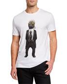 Eleven Paris Men's Famous Figures Pet Karl T-Shirt,