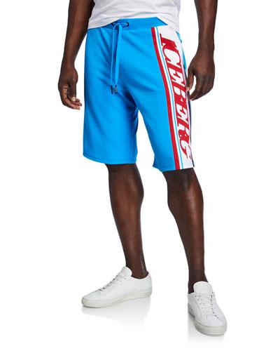 Men's Logo-Side Track Shorts