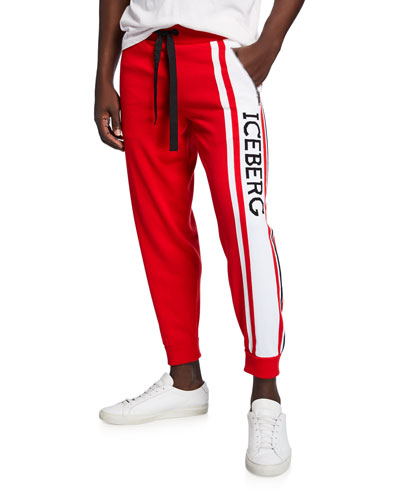 f647d7f1665e Quick Look. Iceberg · Men s Logo-Leg Tapered Sweatpants. Available in Red