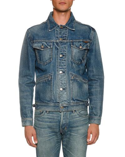 Men's Four-Pocket Denim Jacket