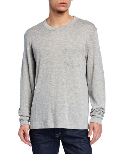 Men's Long-Sleeve Cashmere T-Shirt