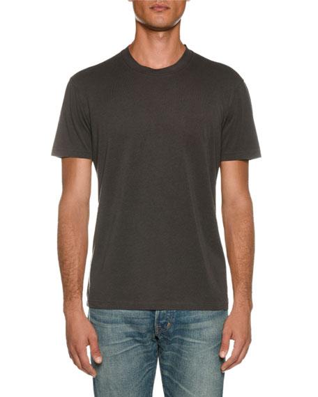 TOM FORD Men's Short-Sleeve Solid T-Shirt, Gray