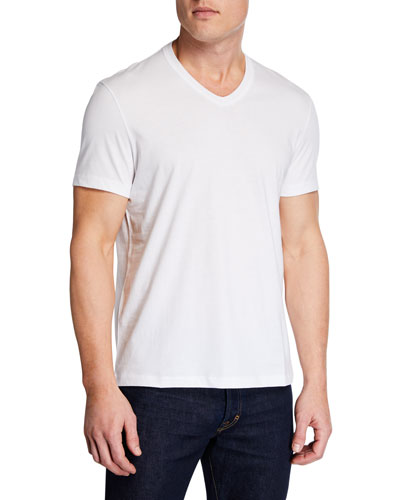 Men's Short-Sleeve V-Neck T-Shirt, White