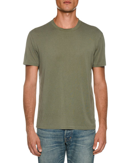 TOM FORD Men's Short-Sleeve Solid T-Shirt