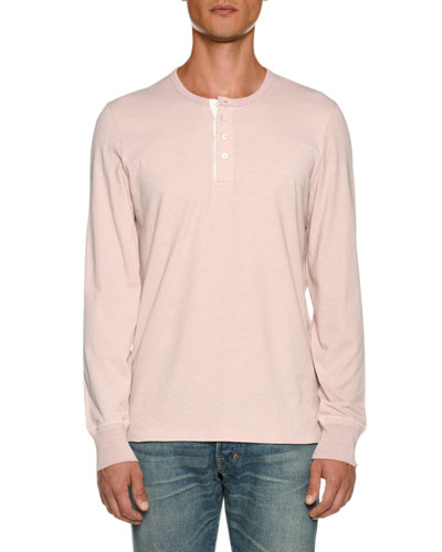 Men's Long-Sleeve Henley Shirt