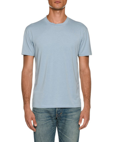 Men's Short-Sleeve Solid T-Shirt, Blue