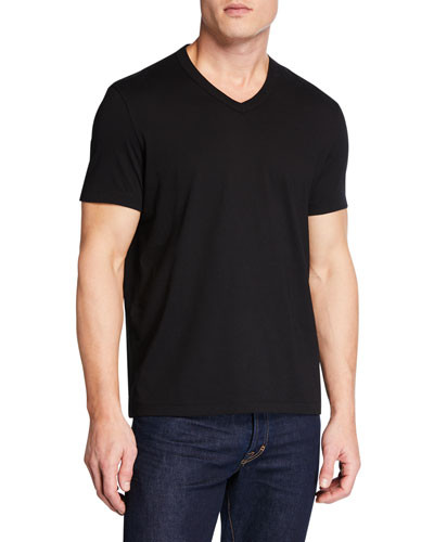 Men's Short-Sleeve V-Neck T-Shirt, Black