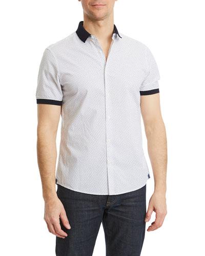 Men's Kirk Slim Printed Short-Sleeve Shirt