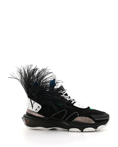 Men's Runway High Bounce Feather Sneakers
