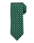 Bigi Small-Flower Silk Tie, Green