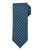 Bigi Medium-Flower Silk Tie, Teal