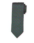 Bigi Medallion Silk Tie, Green