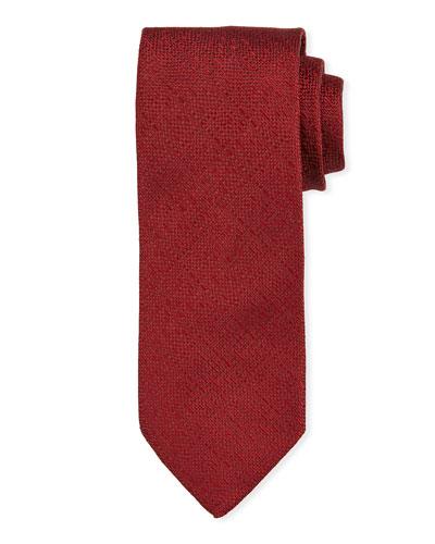 Solid Silk Tie, Red