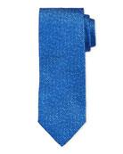 Bigi Solid Silk Tie, Blue