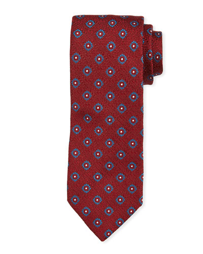 Floral Pattern Tie, Red