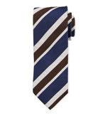 Bigi Multi-Stripe Silk Tie, Navy