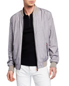 Kiton Men's Heathered Bomber Jacket