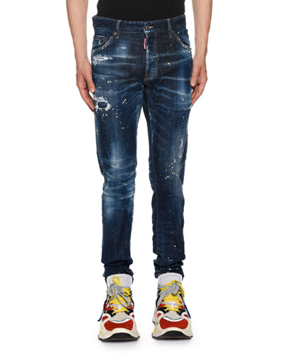 Men's Cool Guy Paint-Spots  Jeans