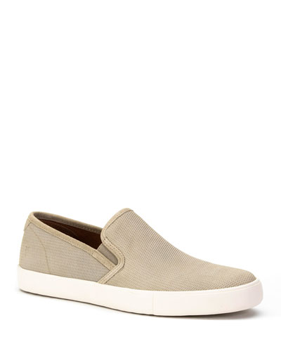 Men's Brett Perforated Leather Slip-On Sneakers