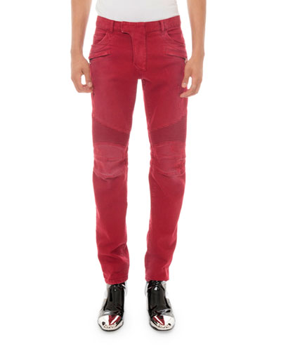 Men's Slim Biker Jeans