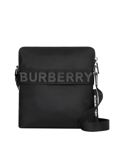 Men's Neo-Nylon Logo-Web Crossbody Bag