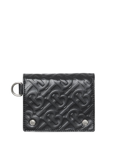 Men's Logo Embossed Leather Wallet