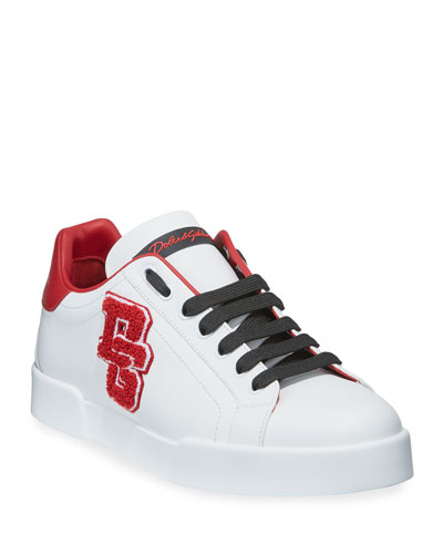 Men's Portofino Applique Leather Sneakers