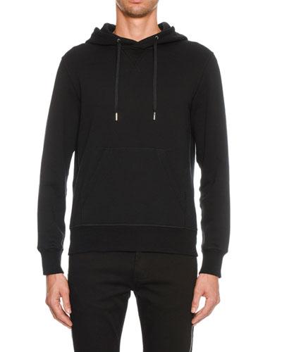 Men's Hoodie Sweatshirt with Convertible Zipper