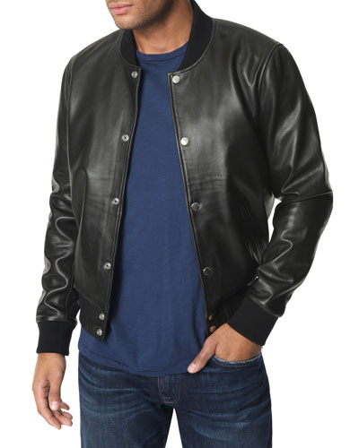 Men's Lamb Leather Bomber Jacket