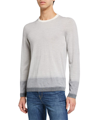 Men's New Sovereign Striped Wool Sweater