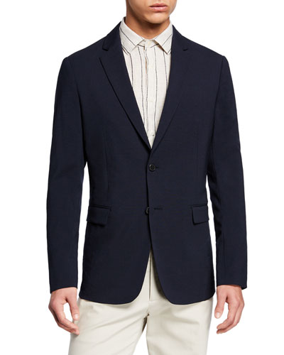 Men's Clinton Seersucker Two-Button Jacket