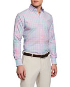 Peter Millar Men's Fairhope Multi-Plaid Sport Shirt