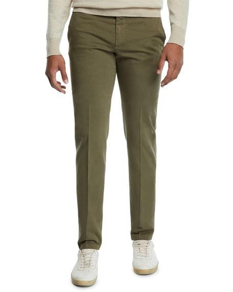 Loro Piana Men's Flat-Front Slim-Fit Pants