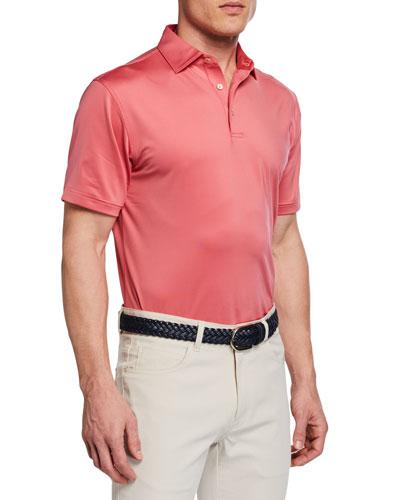 Men's Halifax Stripe Stretch Jersey Polo Shirt