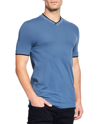 Men's Jersey T-Shirt with Contrast Trim