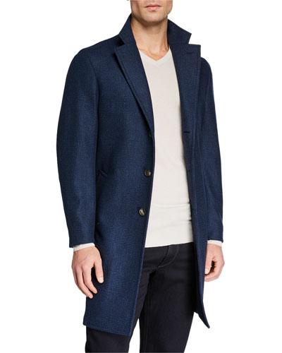 Men's Sartorial Tonal Plaid Coat
